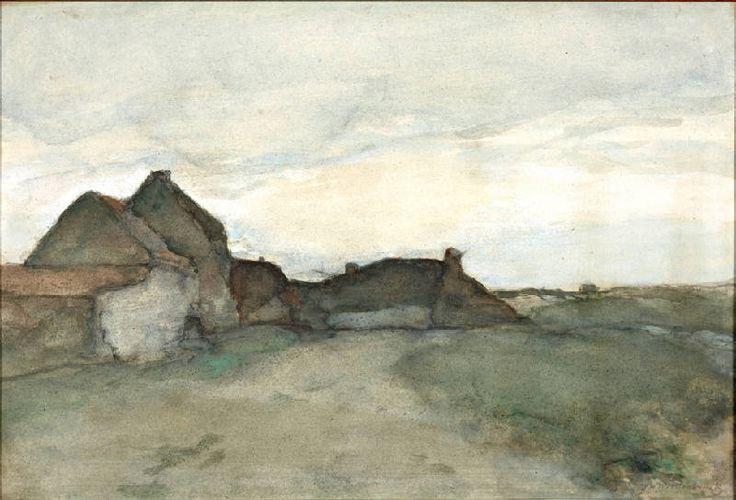 J.H. Weissenbruch, watercolour