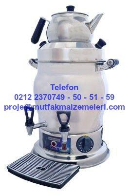 Çay Makinası Semaver Tipi 2 Demlikli Çay Semaveri Makinası ADCS 10-Semaver Tipi Çay Makinası 2 demlemeli kapasitesiyle gün boyunca çay içme ihtiyacı duyanlara yedek demlikli çay servisiyle kesintisiz çay keyfi sunar. Aynı zamanda üst tarafında demlenen çayın tadı normal tavşan kanı çayın tadını verir. Çay makinasının altında demlenen çaysa 0212 2370749 Çay Makinası Çay Kazanları : 2 Demlikli Çelik Çay Semaveri