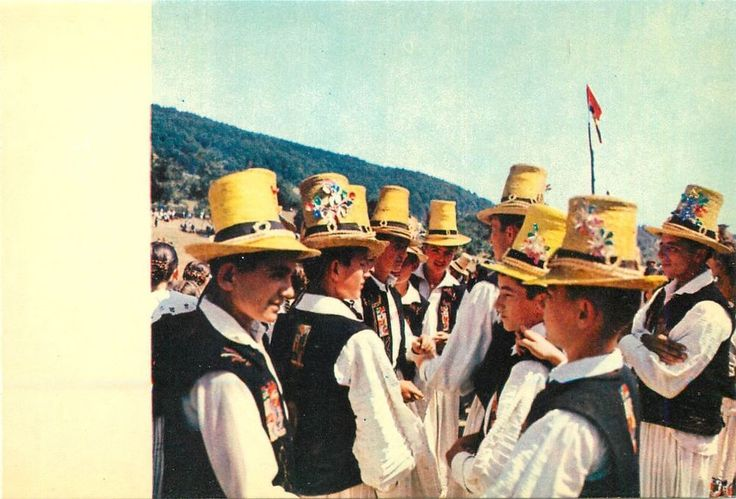 Romania Maramures folk art treasures young men from Chioar country costumes