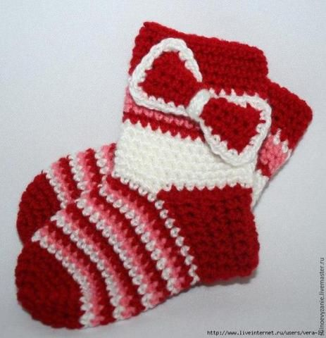 Вязание крючком для детей: вяжем носочки крючком от мыска | dddeti.ru