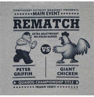 family guy chicken fight | Family Guy Chicken Fight Gray Tee Shirt for only £ 15.89 at ...