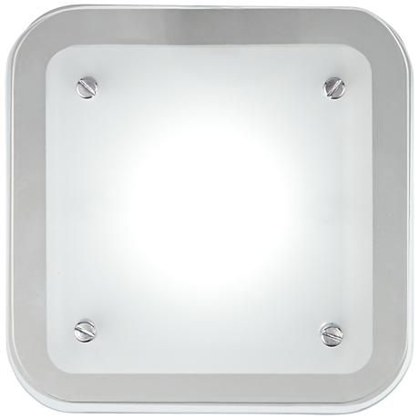 """Elin Chrome 5 1/2"""" Square Frosted Glass LED Wall Sconce"""