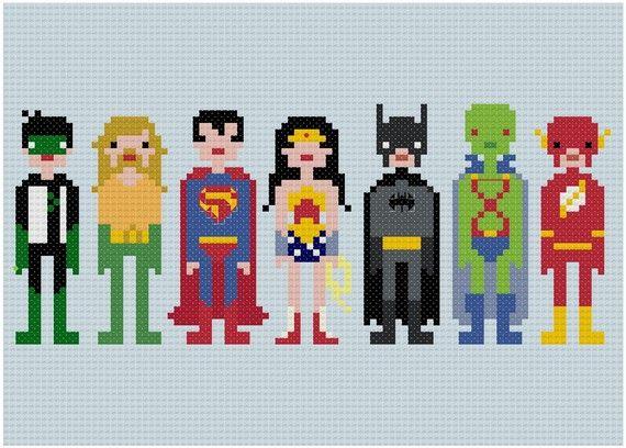 Superhero cross stitch