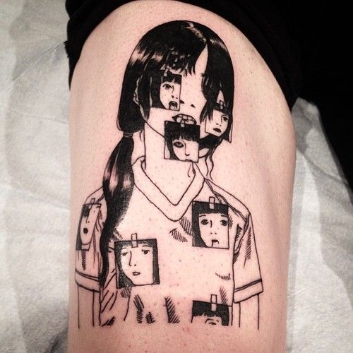 joelrich:  Shintaro Kago for Niall. #tattoo #tattooartist...