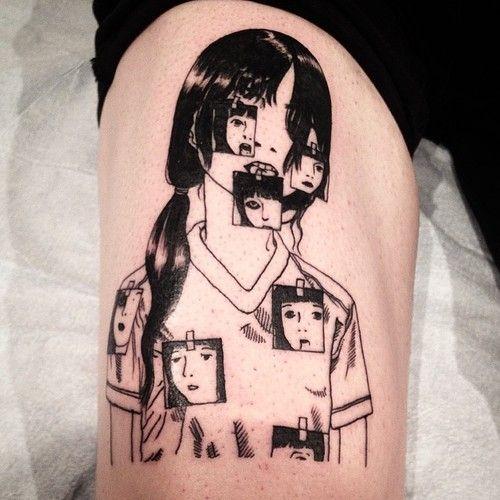 Shintaro Kago tattoo. Via http://joelrich.tumblr.com/post/93443739870/shintaro-kago-for-niall-tattoo-tattooartist