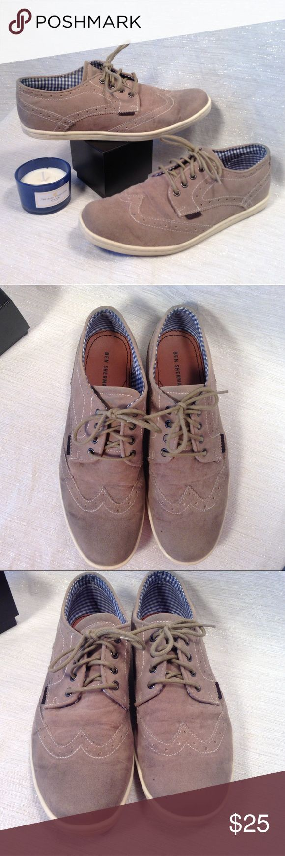 Ben Sherman Mens Brogue Sneakers/Shoe Size 8 Natural color oxford wing tip style dress sneaker is perfect for guys that need a dress shoe but are more on the casual side. Wear them with slacks, jeans or shorts. Ben Sherman Shoes Flats & Loafers