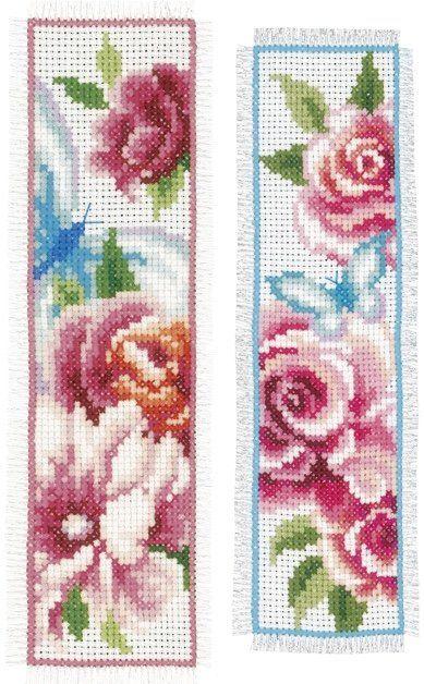 Marcador: Flores y Mariposas (2) de Vervaco - Marcadores - Kits Bordado - Casa Cenina