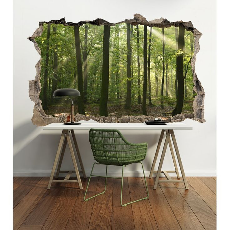 3D Muursticker Bomen in het bos - 3D Muurstickers | Muurmode.nl