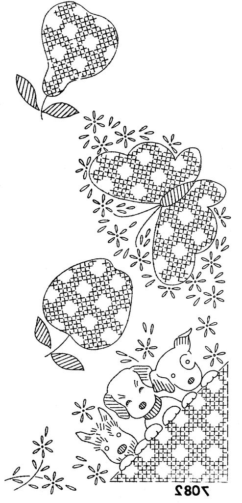 https://flic.kr/p/7LJob1 | 7082 dogs and fruit | This is an Alice Brooks pattern.