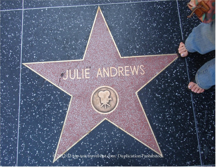 Julie Andrews star on #Hollywood Walk of Fame #julieandrews