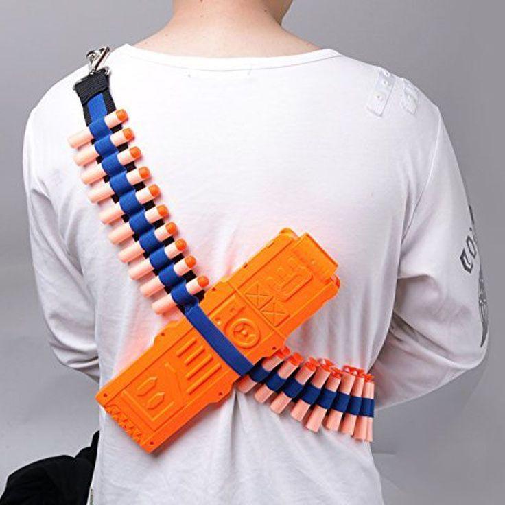 חגור חגורת אקדח צעצוע כדורים רכים רצועת כתף מטען קליפ מחסנית תחמושת אחסון עבור נרף וחול N-strike הטלת חיצים מחזיק