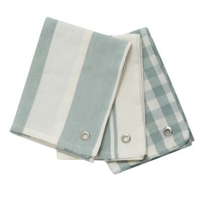 J by Jasper Conran Designer set of three green tea towels- at Debenhams.com