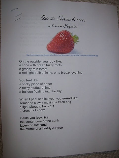 ode poems about food - photo #4