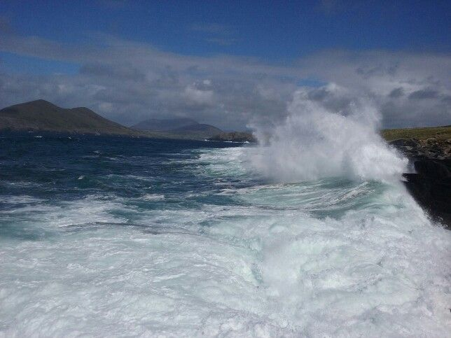 Roiling sea. Valentia island. Co kerry