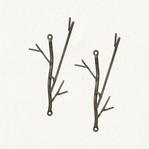 Iron Twig Hooks - eclectic - towel bars and hooks - Terrain