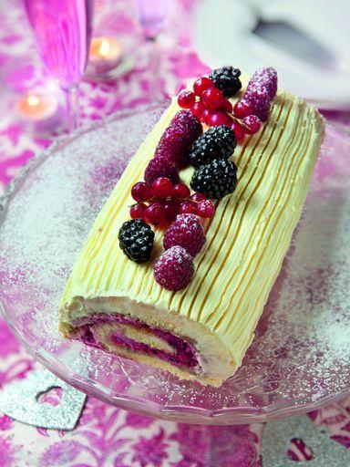 Recette Buche de Noël aux fruits et mascarpone