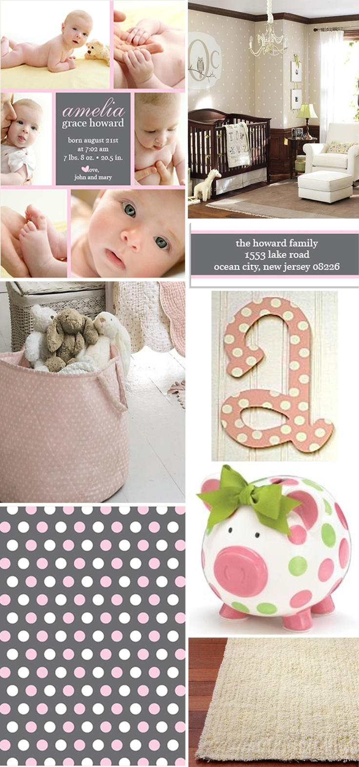29 best Baby Girl Announcements images – New Jersey Birth Announcements