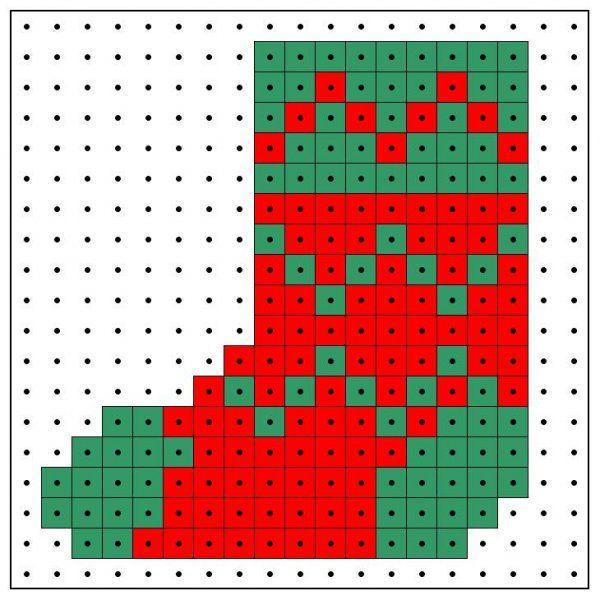 Strijkkralen kerst patroon
