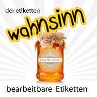 Etiketten Vorlagen für Marmelade, Gläser und Flaschen. Selbst gestalten, beschriften und drucken.