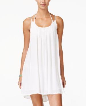 Roxy Juniors' Windy Fly Away Strappy Trapeze Sundress - White XL