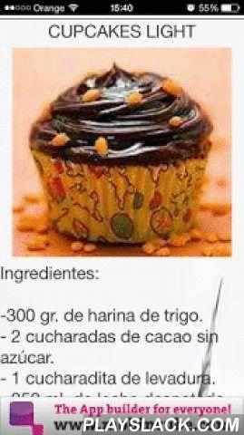 """Recetas CupCakes  Android App - playslack.com ,  Cupcakes, aquellos maravillosos pastelillos. Es una de las recetas de repostería más divertida, creativa y vistosa. Es una receta procedente de los EE.UU, y cada vez se ha introducido más en nuestra gastronomía.El Cupcake es una especie de magdalena, decorada con ingredientes de colores, e infinidad de posibilidades en su elaboración.""""Recetas de cupcakes"""" es una aplicación donde te presenta paso a paso y muy sencillas de elaborar, una docena…"""