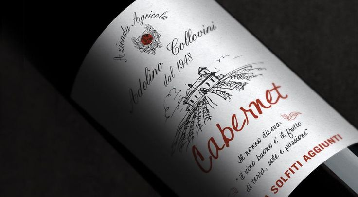 COLLOVINI The strong corporate identity, expressed in particular by the wine-making tradition passed down with love over generations, has been reinforced by the use of sketches and calligraphic characters drawn by hand and made recognizable by the inclusion of the Collovini's family coat of arms.
