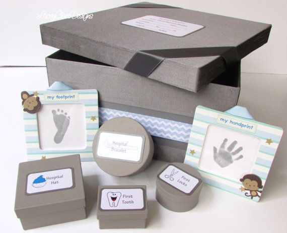 Baby Keepsake Box Baby Shower Box Infant by LaceyClaireDesigns