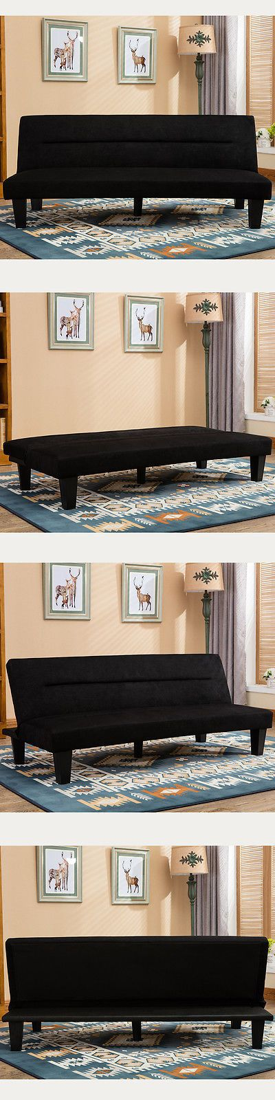 Futons Frames and Covers 131579: Futon Sofa Bed Couch Lounger Sleeper Foldable Folding Microfiber Upholstery New -> BUY IT NOW ONLY: $79.99 on eBay!