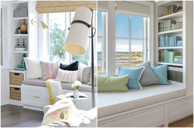 Стеллажи, встроенные в оконный проём #interior #мебель #дизайн #интерьер #дом #уют #декор