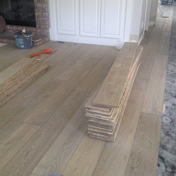 White oak floors going in today!!
