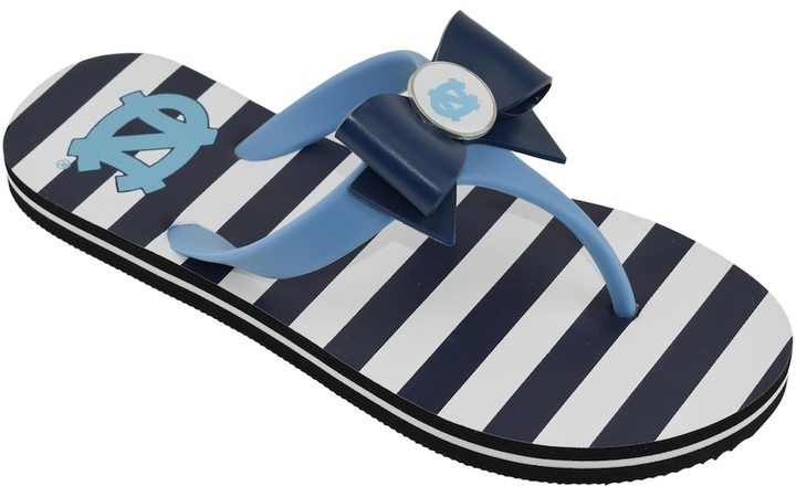 nicekicks for sale cheap huge surprise Women's College Edition North ... Carolina Tar Heels Bow Flip-Flops buy cheap Inexpensive sale in China sale amazing price lo0aqM