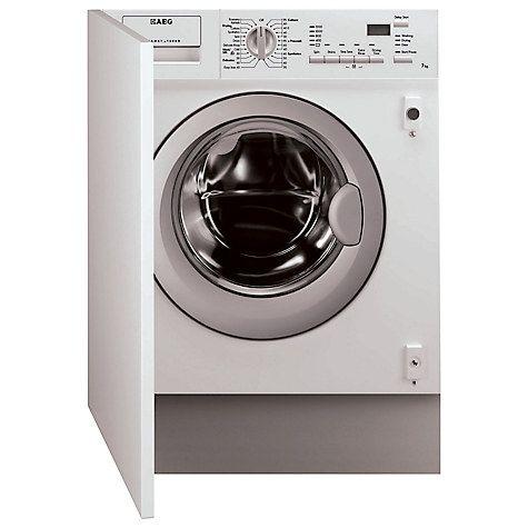 Buy AEG L61271WDBI Integrated Washer Dryer, 7kg Wash/4kg Dry Load, C Energy Rating, 1200rpm Spin Online at johnlewis.com