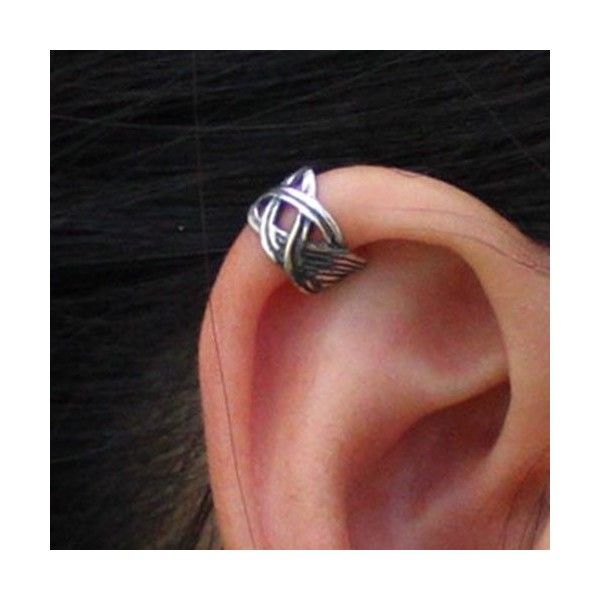 Celtic Knot Wrap ear cuff No piercing Earring wholesale  | eBay ❤ liked on Polyvore featuring jewelry, earrings, celtic knot earrings, wrap earrings, earring ear cuff, wrap jewelry and celtic knot jewelry