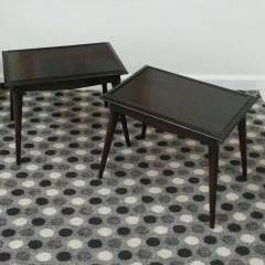 EL_CASA Mobilya Antika Yenilenmiş Retro 2 Sehpa