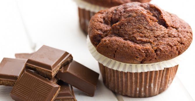 Recettes express ! Muffins légers au chocolat et fleur de sel