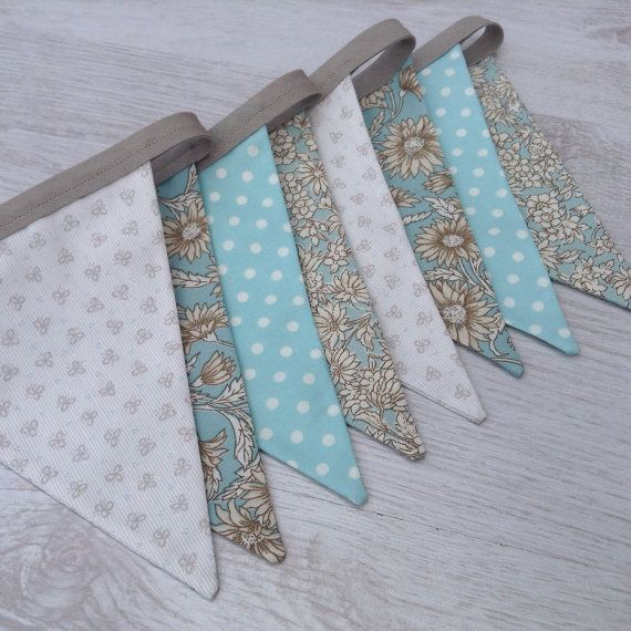 Floral Wedding Bunting Baby Shower Flag Garland by BellaandRoo