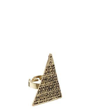 Изображение 1 из Кольцо с треугольником Reclaimed Vintage