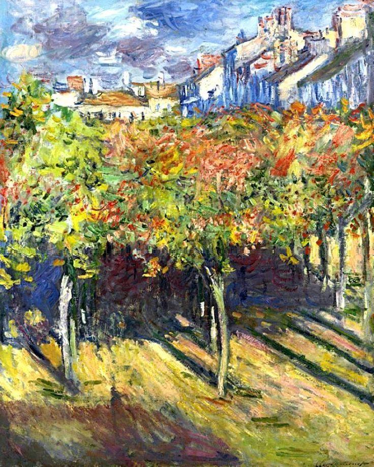 Claude Monet - Les Tilleuls à Poissy, 1882. Oil on canvas, 80.7 x 65cm. Private Collection