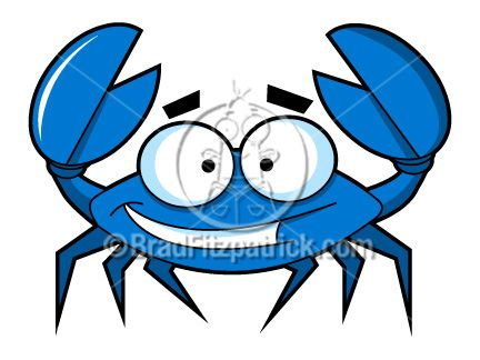 Cartoon Blue Crab Clip Art ... would be easy to make out of construction paper with moveable limbs!