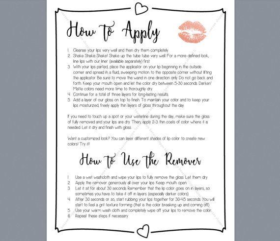 How to Apply & Remove LipSense/SeneGence Lip Color by beezeeshoppe