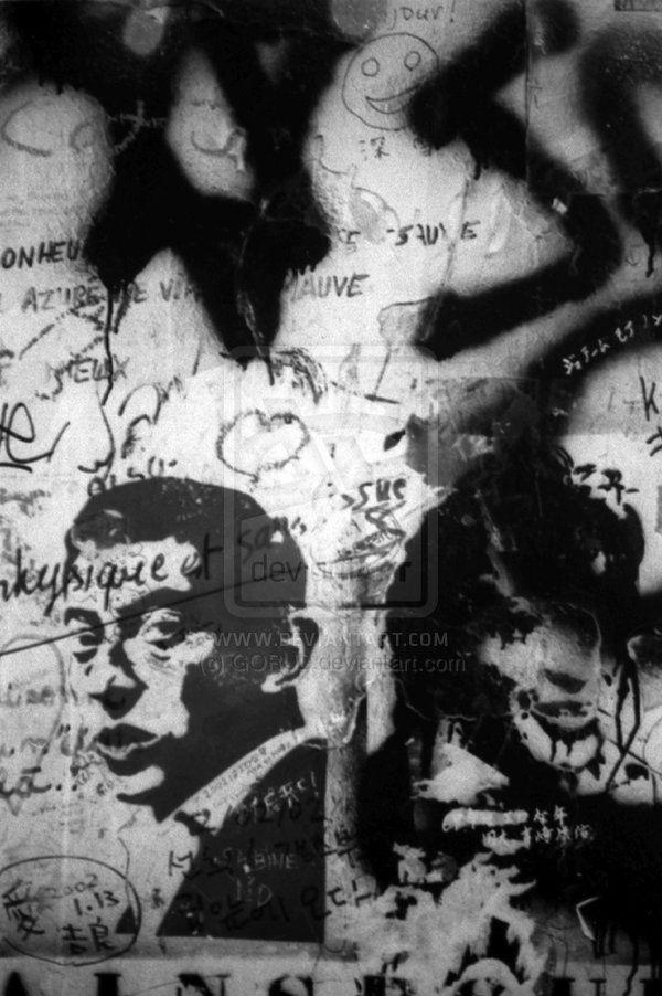 Gainsbourg Graffiti 3 by GORUD.deviantart.com on @deviantART #Photography #BW #Art #Portrait  #Gainsbourg