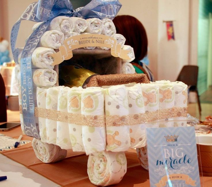 Cradle diaper cake