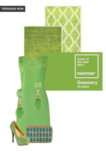 'Greenery' by me on Limeroad featuring Green Kurtas, None Green Earrings with Green Pumps
