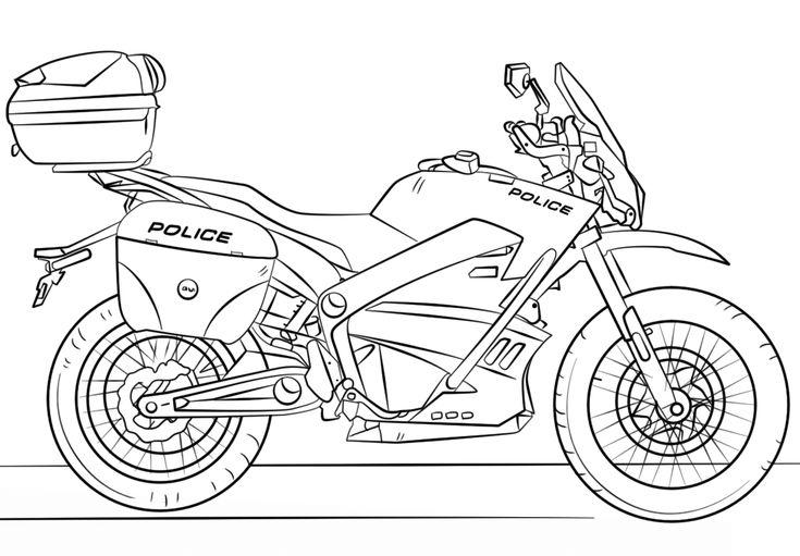 Coloriage Moto Police en 2020 (avec images) | Coloriage ...