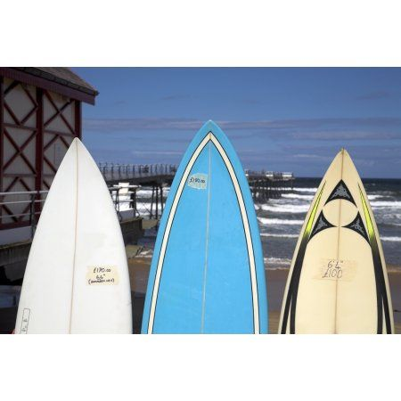Surfboards For Sale Saltburn England Canvas Art - Chris Upton Design Pics (17 x 11)