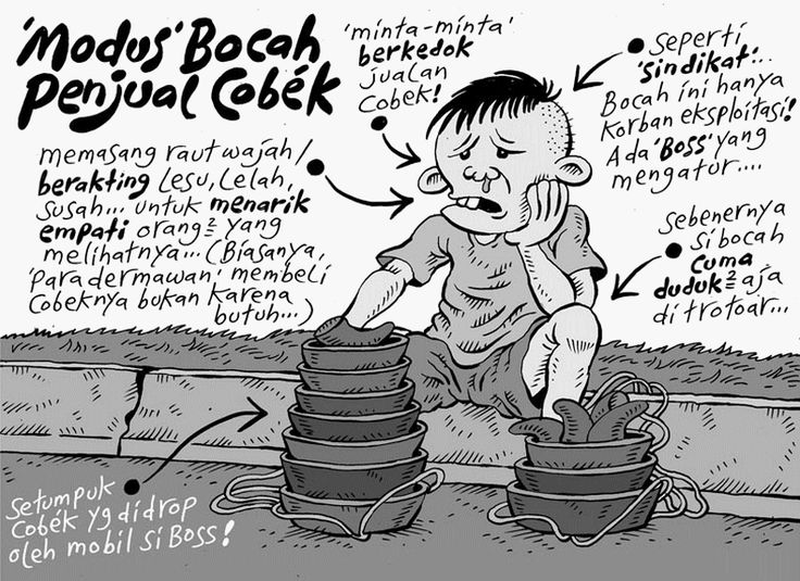 "Mice Cartoon, Kompas - 13 September 2015: ""Modus"" Bocah Penjual Cobek"