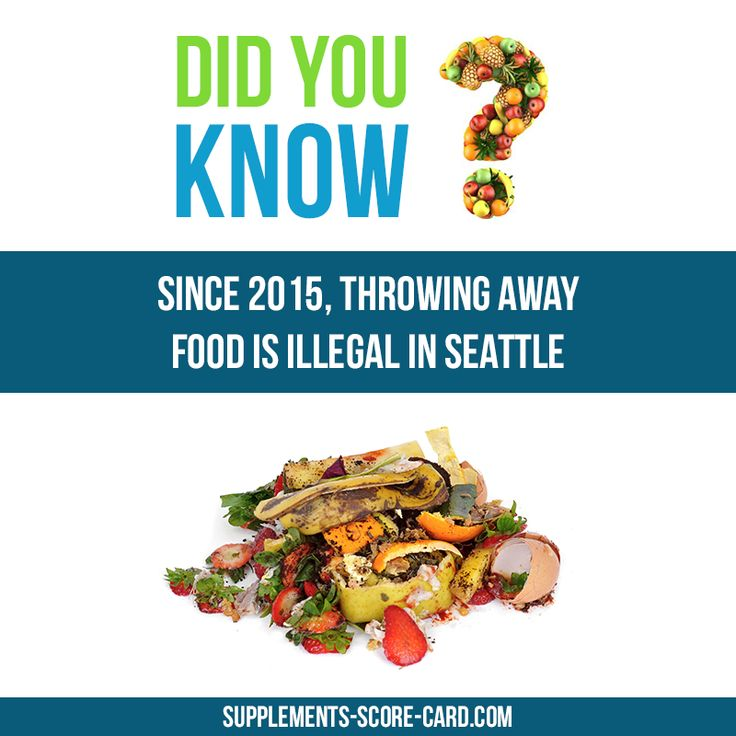 Food waste  Since 2015, throwing away food is illegal in Seattle.
