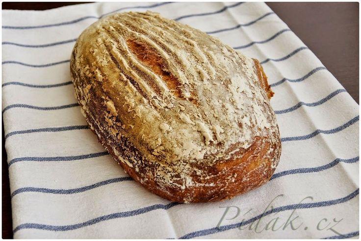 POTŘEBNÉ PŘÍSADY:  300g aktivního žitného kvásku 300g pšeničné mouky (hladká nebo pšeničná chlebová) 170ml vody 12 g soli 3-5 g kmínu další mouka posypání  ...