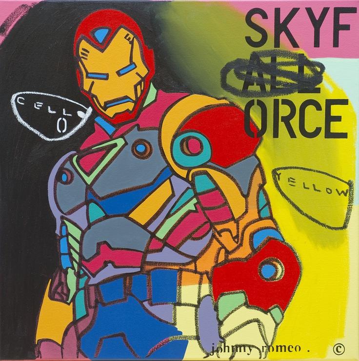 """Cello Yellow"" 71 x 71cm by Johnny Romeo @ Muk Muk Fine Art"