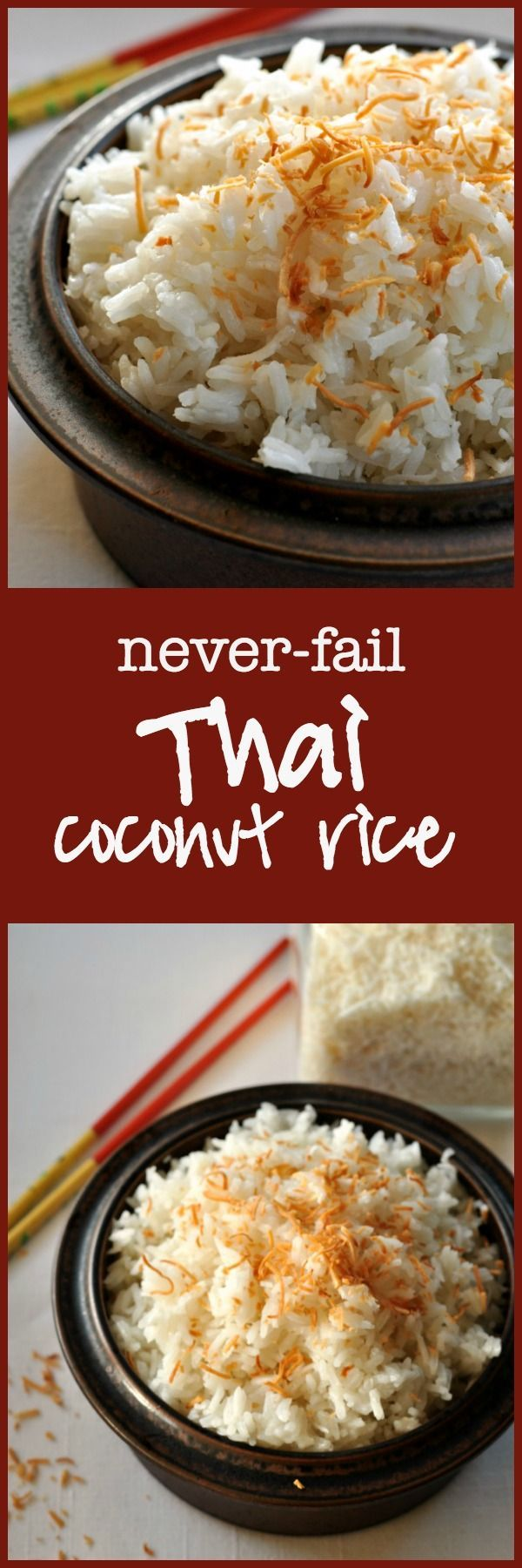 Thai Coconut Rice. Turns out perfectly every time.  So easy! Made with Jasmine rice, this dish has a subtle coconut flavour. via @enessman
